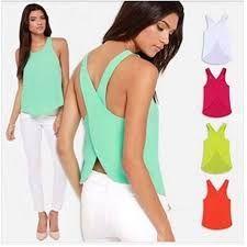 Resultado de imagen para blusas sencillas sin mangas