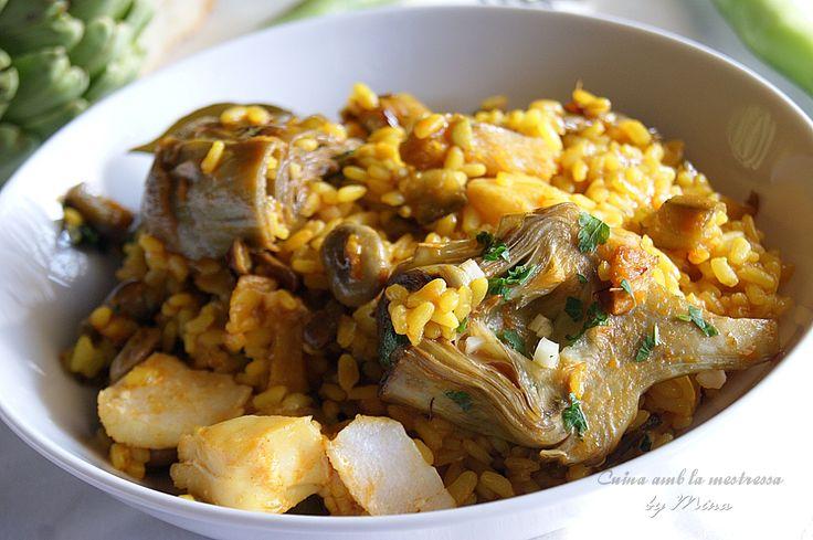 Cuina amb la mestressa: Cazuela de arroz a la hortelana con bacalao