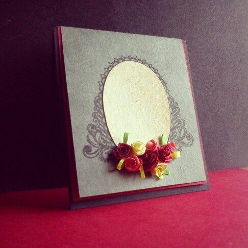 Vintage inspired handmade miniature greeting template.