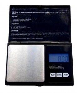 100 x .01g Digital Milligram Scale. BLACK Pocket Scale 6 Modes Laboratory Scale