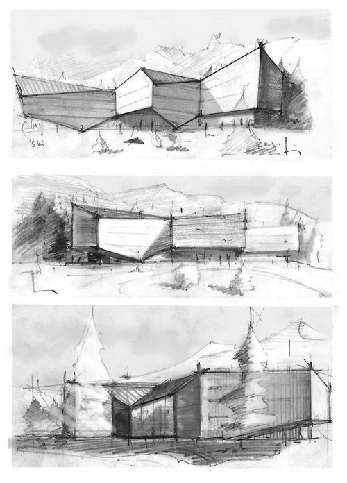 Les 95 meilleures images du tableau esquisse architecte for Esquisse architecture