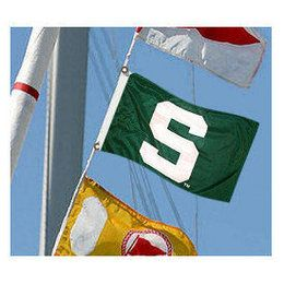 College Flags and Banners MSU Spartans: Michigan State Spartans Boat Flag