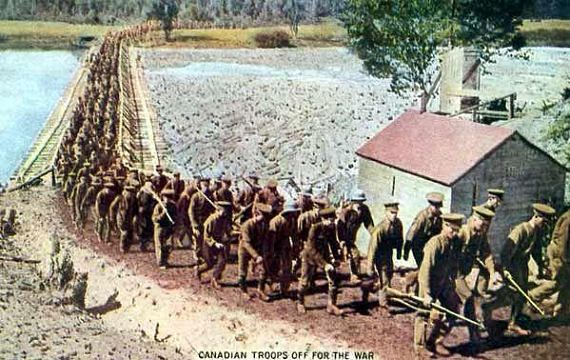 Canadian Troops Setting Off For War