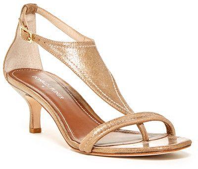 Donald J Pliner Monti Metallic Kitten Heel Sandal