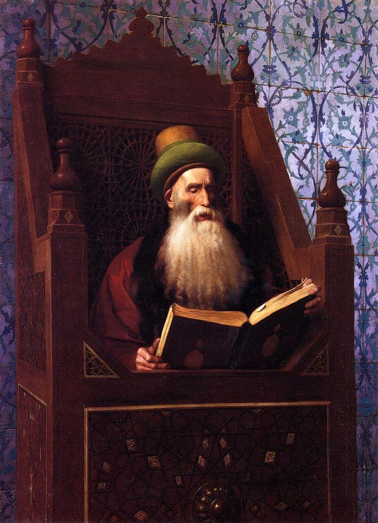 Mufti Reading in His Prayer Stool — Jean-Leon Gerome | biblioklept