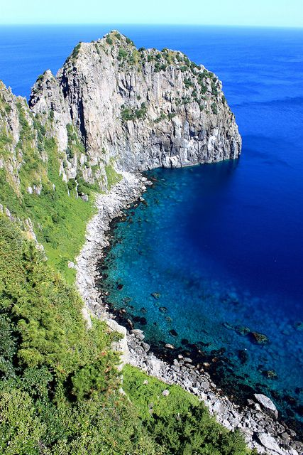 perfect hiking country! Ulleungdo, South Korea: reachable by ferries running daily from the mainland; trails without snakes or pollution!