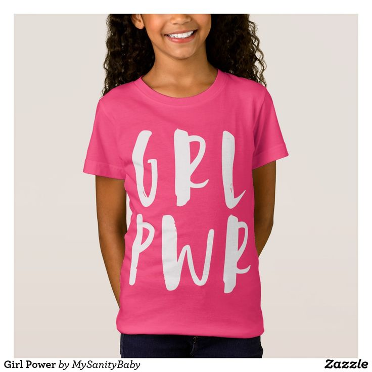 Girl Power T-Shirt - Girl Power T-Shirt - Pretty hit pink Tee with super over sized and cool typography representing the girl power. For power girls full of energy and as vibrant as the hot pink on their tees.