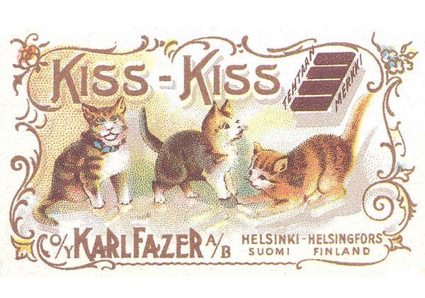 Lovely Kiss Kiss postcard