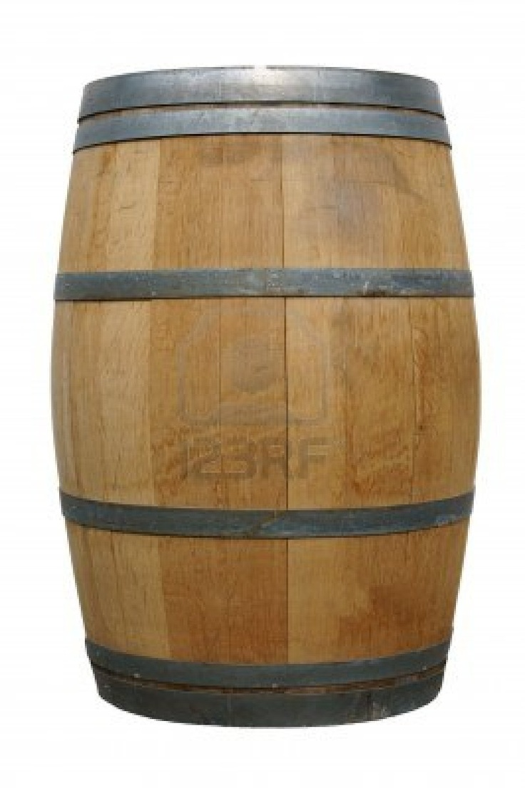 Barril 13919018 barril de madera sobre un fondo blanco - Barril de vino ...
