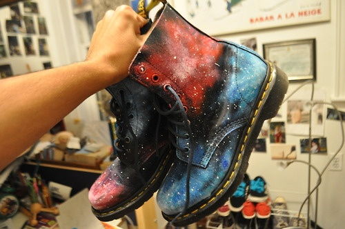 Galaxy painted shoes