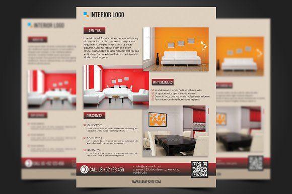 Interior Flyer Template by meisuseno on @creativemarket