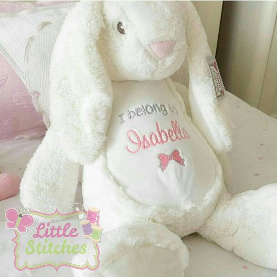 79 best personalised embroider buddies images on pinterest bear personalised bunny rabbit teddy lovely little by littlestitches1 easter giftbunny rabbitpersonalised giftsbaby shower giftsbirthday negle Image collections