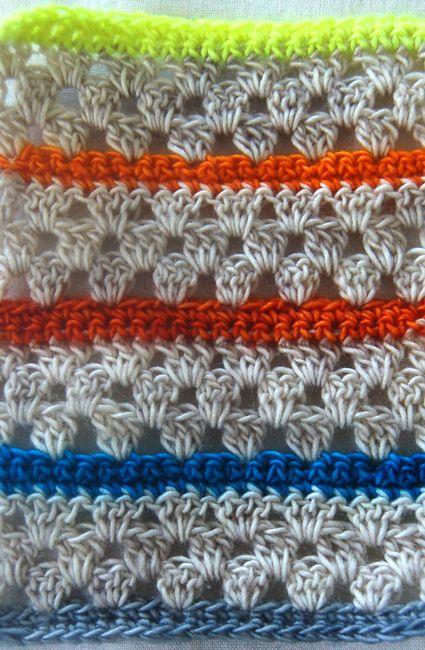 Free Crochet Stripes Blanket Pattern.