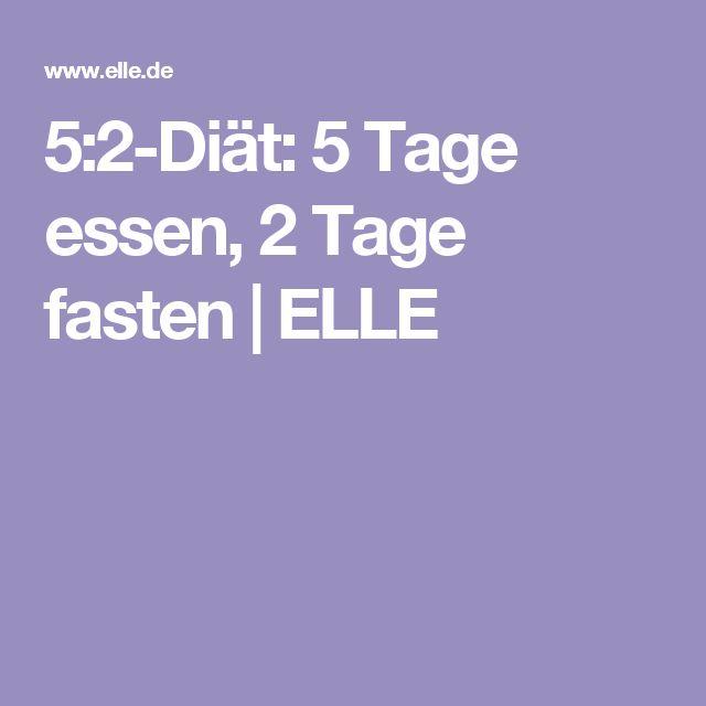5:2-Diät: 5 Tage essen, 2 Tage fasten | ELLE
