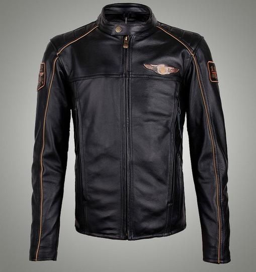 Men's Motorcycle Leather Jacket 97145 US $170.05  CLICK LINK TO BUY THE PRODUCT  http://goo.gl/oYWEYs