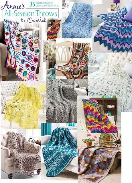 35 of the Best Crochet Patterns for Afghans and Throws for any season of the year