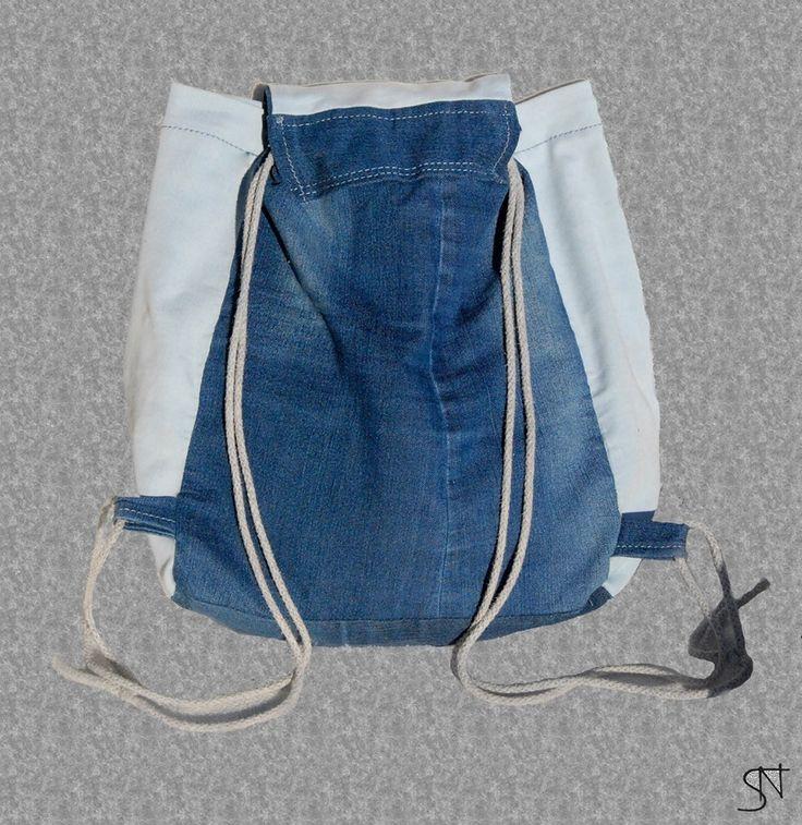 Plecak DIY  DIY bag jeans recycling