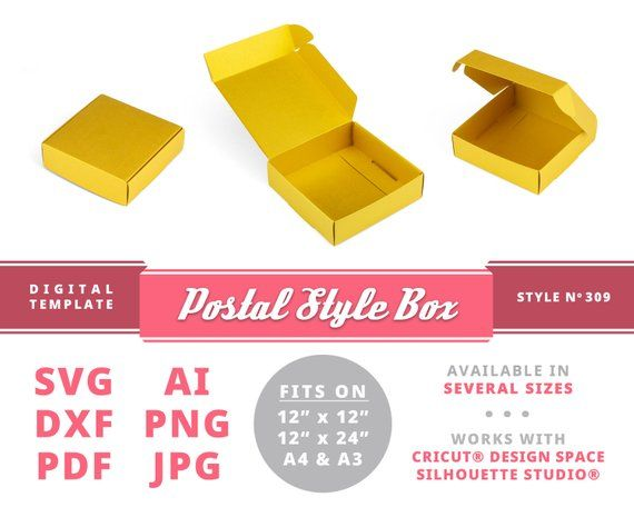 Postal Box Svg Instant Download Printable Digital Gift Box Etsy Box Template Gift Box Template Gift Box Template Free