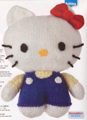 """Hello Kitty Toy Doll Knitting Pattern: Measurements 18cm/7"""" (Womans Weekly Magazine Pull Out Pattern) by Unknown, http://www.amazon.co.uk/dp/B00IBXM362/ref=cm_sw_r_pi_dp_JLNitb1VPSSCC"""