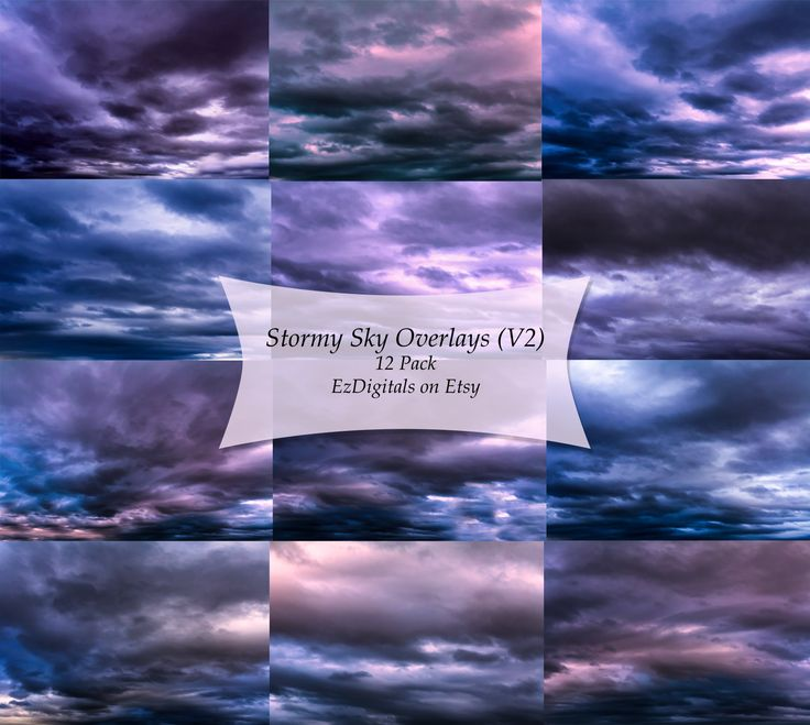 Sky Overlays, Cloud Overlays, Stormy Sky Overlays, Photography Overlays…