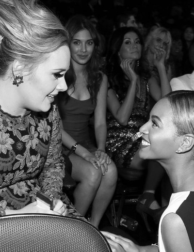 Adele and Beyonce at Grammys 2013