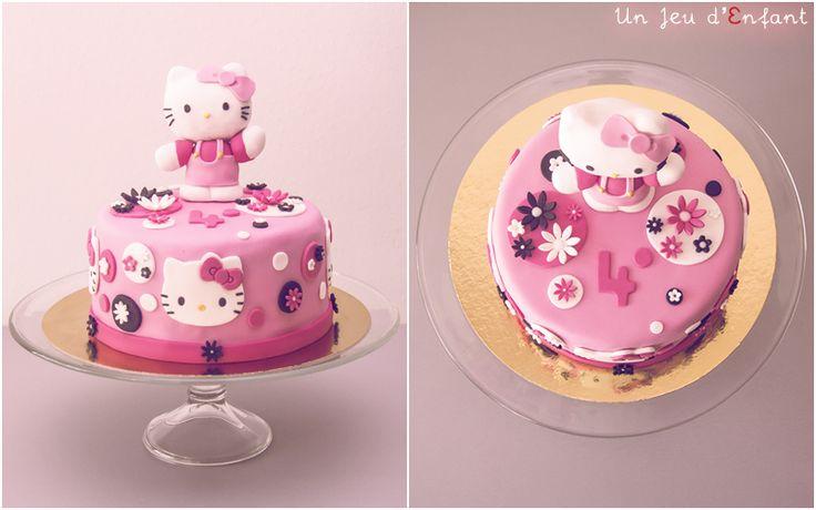 hello kitty cake, modelage Hello Kitty, pink cake, birthday cake, un jeu d'enfant - Nantes, France