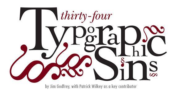 34 typographic sins