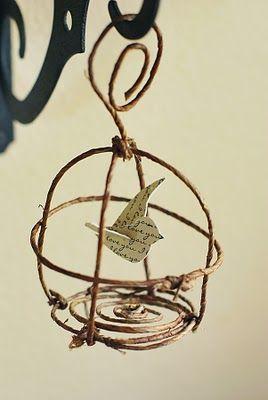 DIY Birdcage Ornament