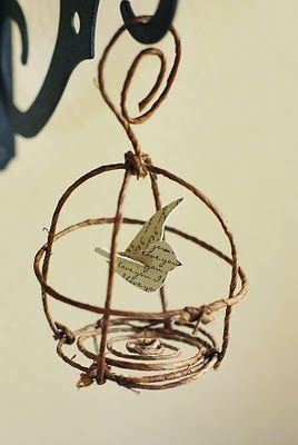 // bird & birdcage ornament.