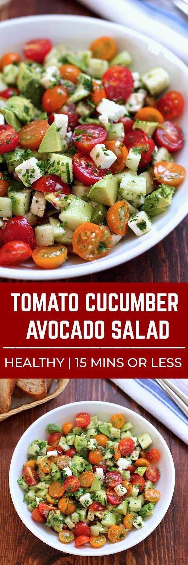 Tomate, Gurke, AvocadoSalat