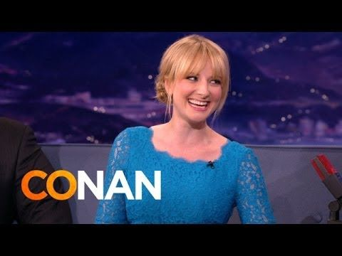 """Melissa Rauch stopped by Conan to talk about all things circle jerk.  'The Big Bang Theory' star tells a pretty funny story about her parents misunderstanding the term """"circle jerk.""""  There's an awesome topic for dinner tonight. """"Mom, do you know what a circle jerk is? And pass the peas."""" http://bigbangtheorytribe.com/?p=1463"""