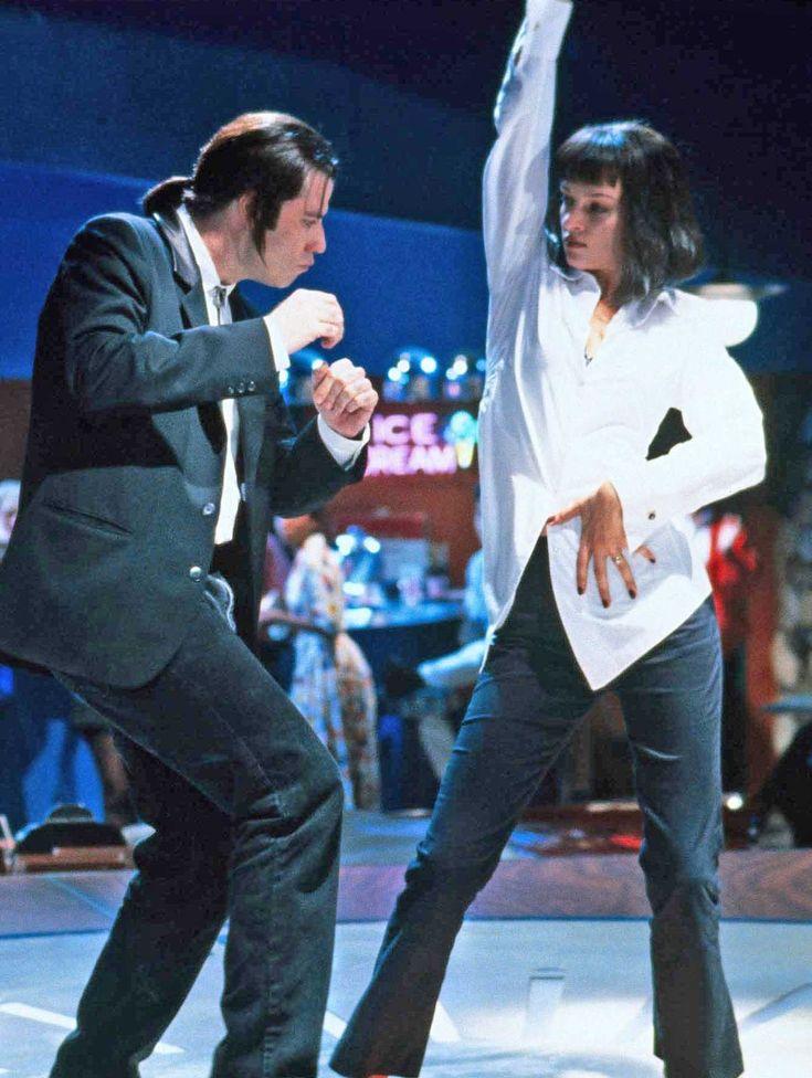 Pulp Fiction, 1994.  John Travolta, Uma Thurman