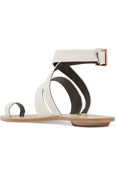 Tibi - Hallie Leather Sandals - Ivory - IT40.5