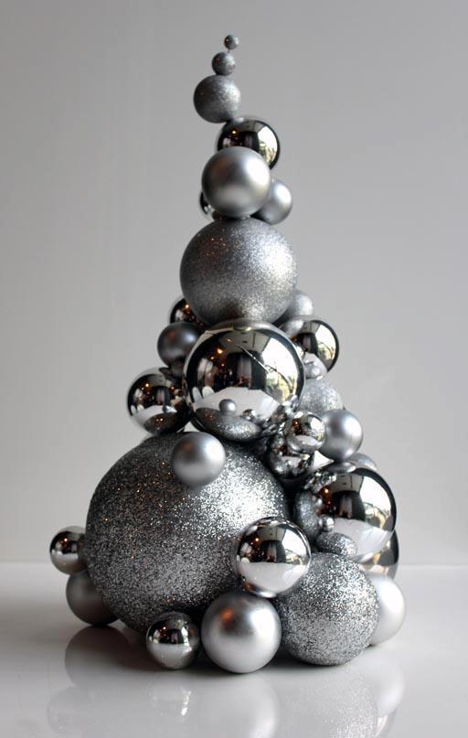 Albero di Natale con sfere - sapin boules - Christmas tree