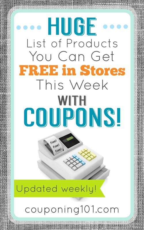 Huge list of products you can get FREE in stores this week with coupons! (Updated weekly!)