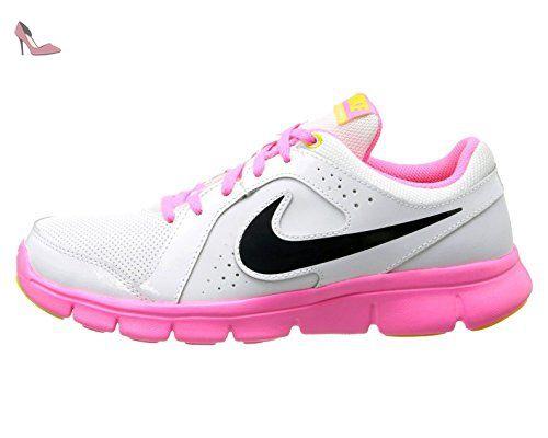 Nike Flex 2016 RN (GS), Chaussures de Running Garçon, Noir (Black (Noir/Argent Métallisé-Jeu Royal-Blanc)), 35.5 EU