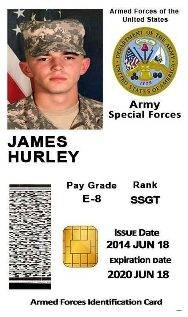 Military Identification Cards Review In 2021 Card Template Id Card Template James Hurley