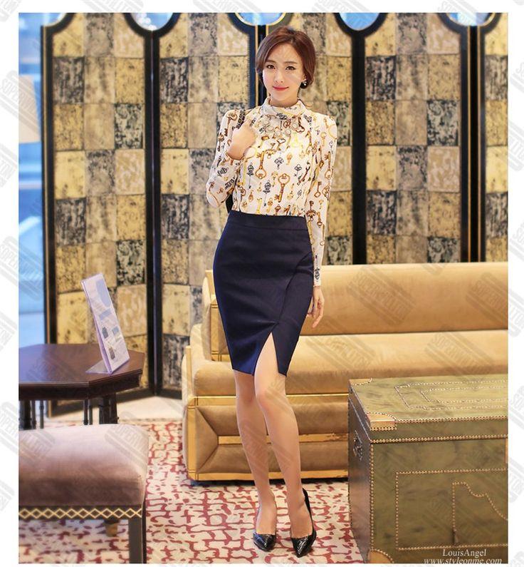 Soperwillton 2016 Hot Sale Summer Blouses Women Femininas Lace Shirt blusas OL high collar long-sleeved chiffon shirt printing Dropshipping