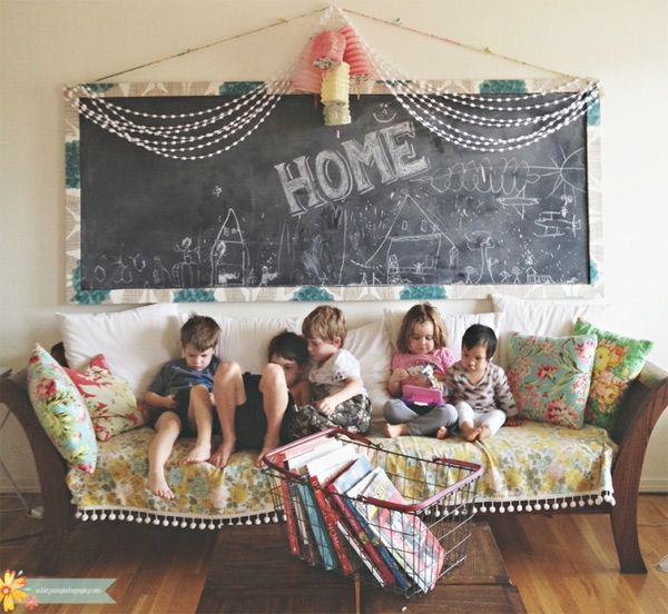 Giant chalkboard for wall over living/dining area