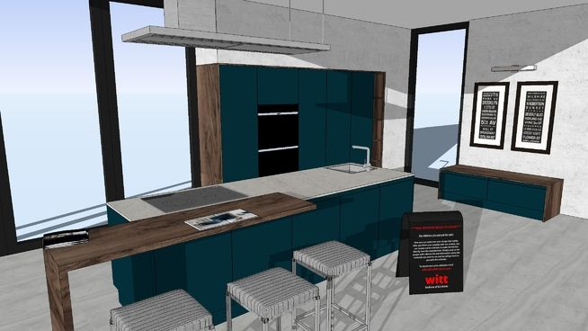 LUCCA Deep Ocean - WITT Kitchen - 3D Warehouse