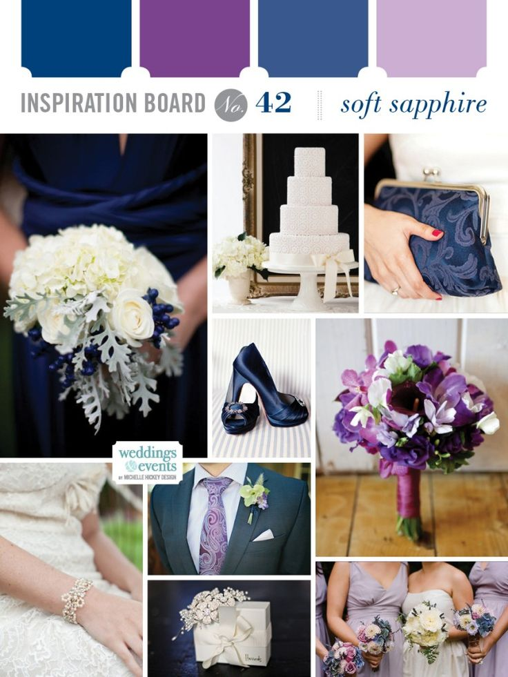 Inspiration board 42 soft sapphire michelle hickey Navy purple color