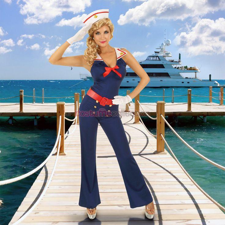 Ahoy Sailor Pin Up Girl 50s Costume