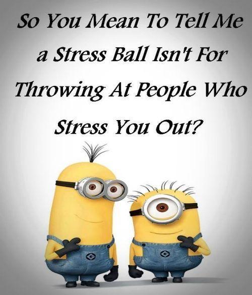 。◕‿◕。 Funny Minions stress ball. See my Minions pins https://www.pinterest.com/search/my_pins/?q=minions - Michael Eric Berrios DJMC -