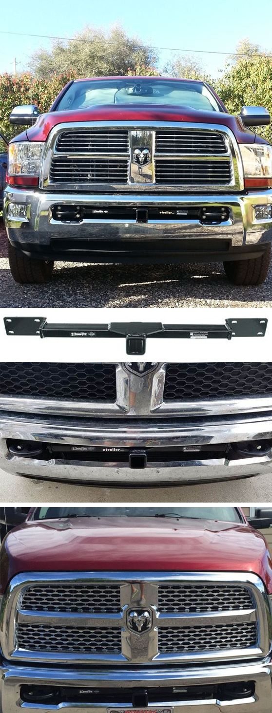 Easily attach a variety of accessories to the front of your Dodge Ram Pickup truck with this fully welded, corrosion-resistant trailer hitch receiver. Perfect for winches, spare tire carriers and more.