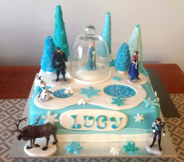 Frozen themed cake. Chocolate mud with chocolate ganache.