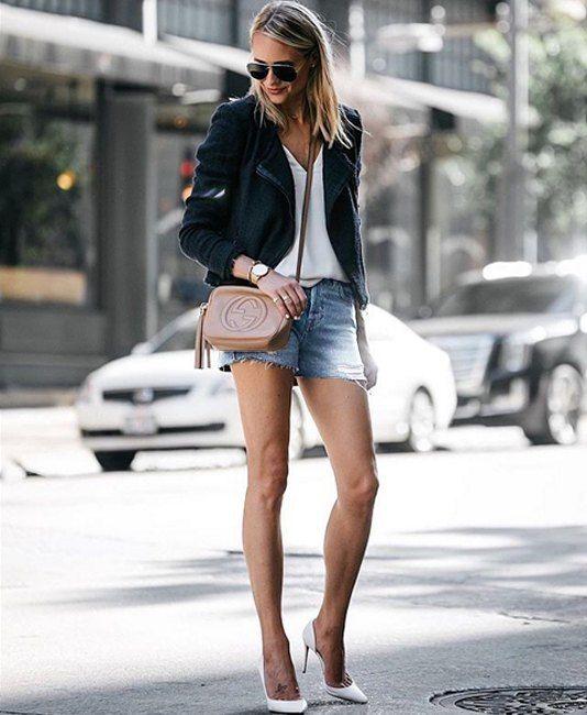 Идеальный деловой костюм для жаркой погоды! Загляните к нам в JiST (или jist.ua), подобрать себе джинсовые шорты и белую футболку для знойного лета. #fashion #outfitidea: #stylish & #trendy #blue #jeans #shorts help to create #chic #summer #outfit #мода #стиль #тренды #джинсы #шорты #модно #стильно #киев #распродажа #скидка #лето