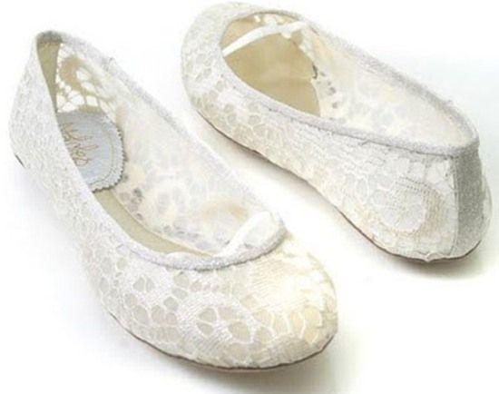Sapato baixo para noivas