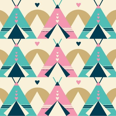 : Color Palettes, Prints Patterns, Teepees Patterns, Tees Pee, Teep Patterns, Teep Prints, Tipi Patterns, Tipi Pink Blue, Print Patterns