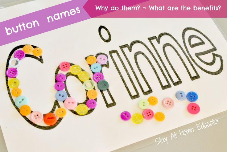 Button Names - a Name Recognition Activity