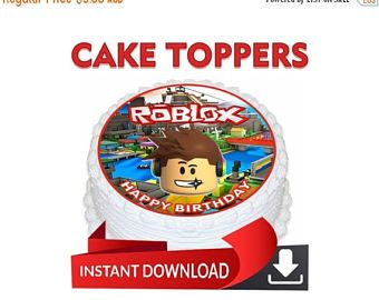 30 Off Digital Cake Stuf Roblox Topper Instant Download